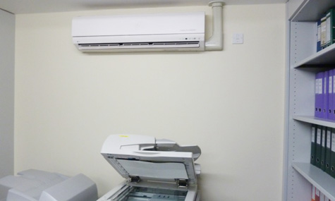 Air Con Installed in to Small Photocopier Room