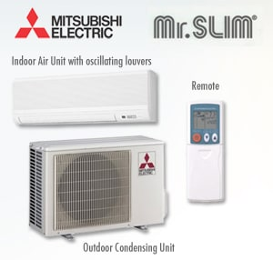 Beautiful The Mitsubishi Mr Slim Air Conditioner Producing Air Conditioning ...