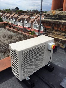 Installation to air conditioning unit in loft converted bedroom ...