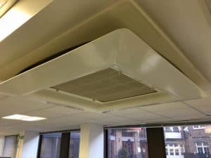 Simply Air Conditioning London - Fibreglass air deflector installation in Clerkenwell