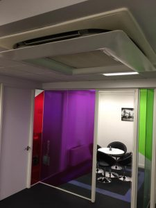 Simply Air Conditioning London - Air Deflectors Installed In An Office Near Hatton Gardens